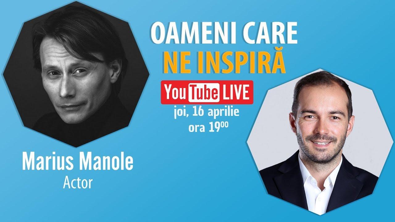 Interviu Cu Actorul Marius Manole – #OameniCareNeInspiră